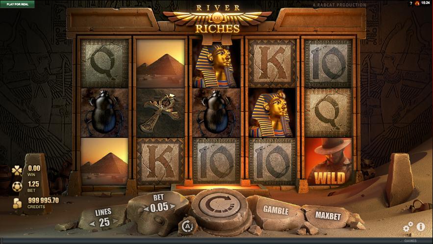 Играть в казино на гривны онлайн Укрказино River of Riches
