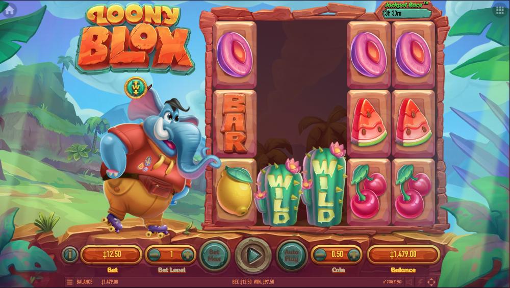 Играть в видео-слот Loony Blox онлайн на гривны Ukrcasino
