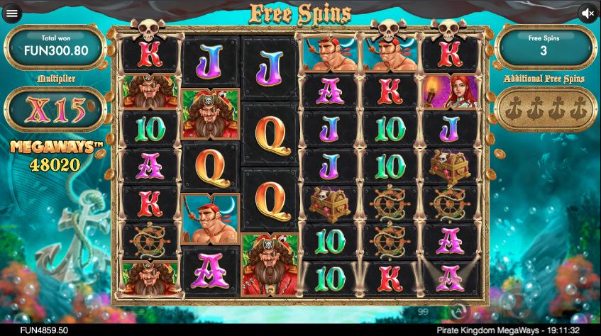Новый игровой автомат онлайн на гривны Pirate Kingdom Megaways