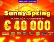 Последний большой турнир большие деньги PLAYSON солнечная весна