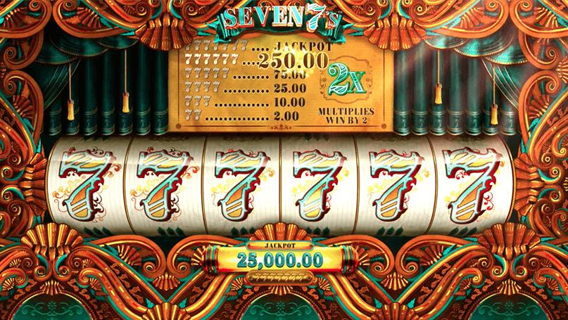 Топовые игровые автоматы Микрогейминг играть онлайн на гривны Seven 7's