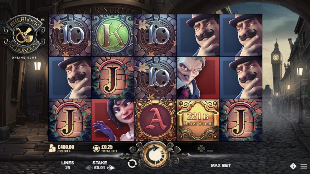 Играть в слот Sherlock of London онлайн на гривны