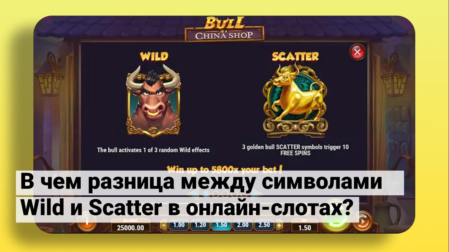 Разница между символами Wild и Scatter в онлайн-слотах